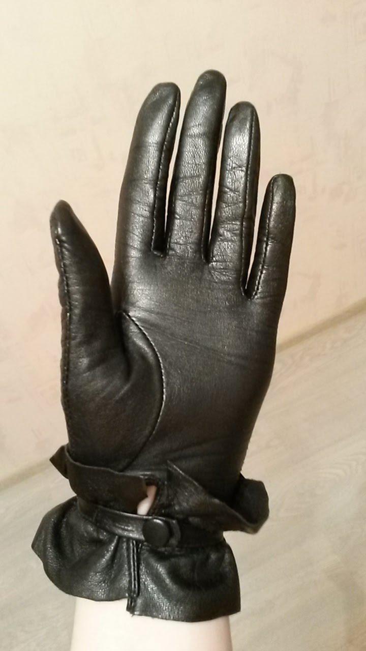 Перчатки из натуральной кожи Еleganzza 5-6 размер