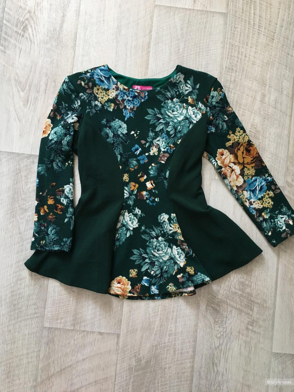 Блуза Goddess с баской, размер 10 UK (42-44)