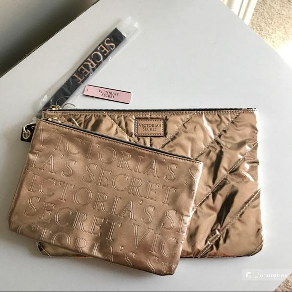 Набор Клатч + Косметичка Victoria`s Secret Rose Gold Clutch Set