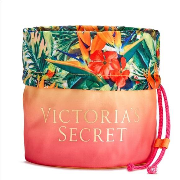 Сумочка для косметики Victoria's Secret Neon Paradise Drawstring Beauty Bag