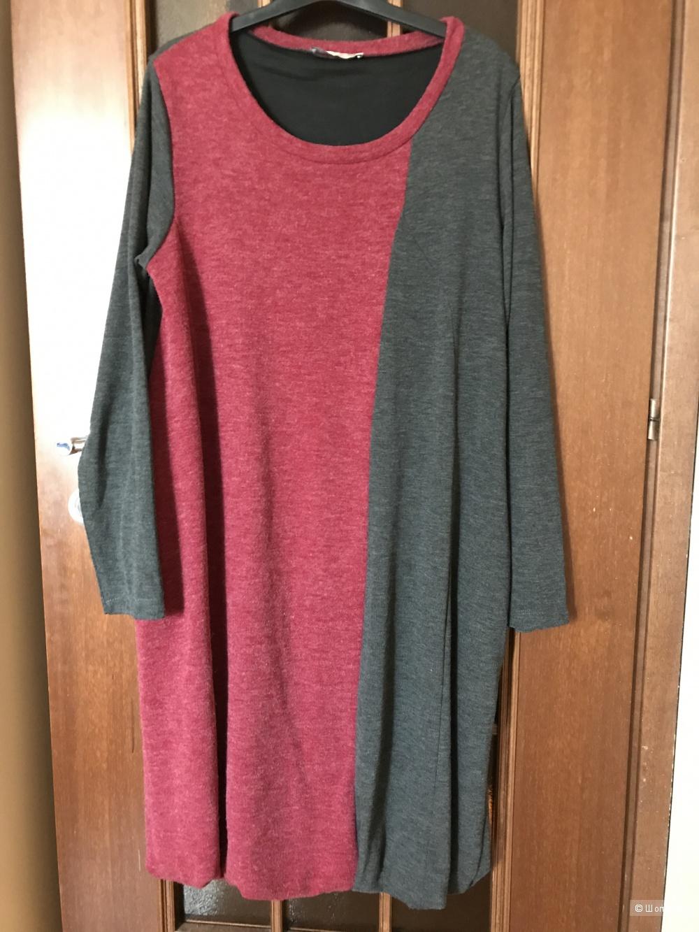 Платье с длинным рукавом Miss Free. Маркировка XL.