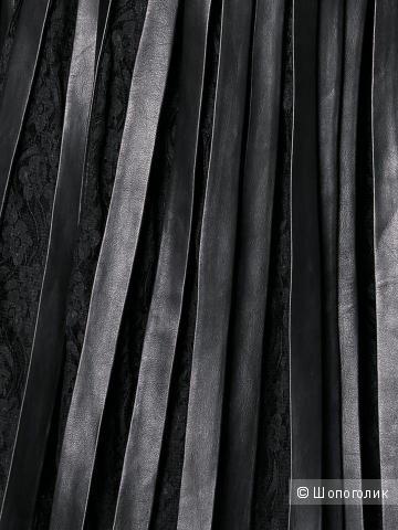 Юбка кожаная плиссированная ASHLEY BROOKE 36 европейский 44русский