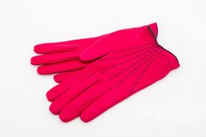 Перчатки кожаные женские Emporio Armani, размер L