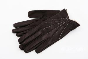 Перчатки кожаные женские Emporio Armani, размер S