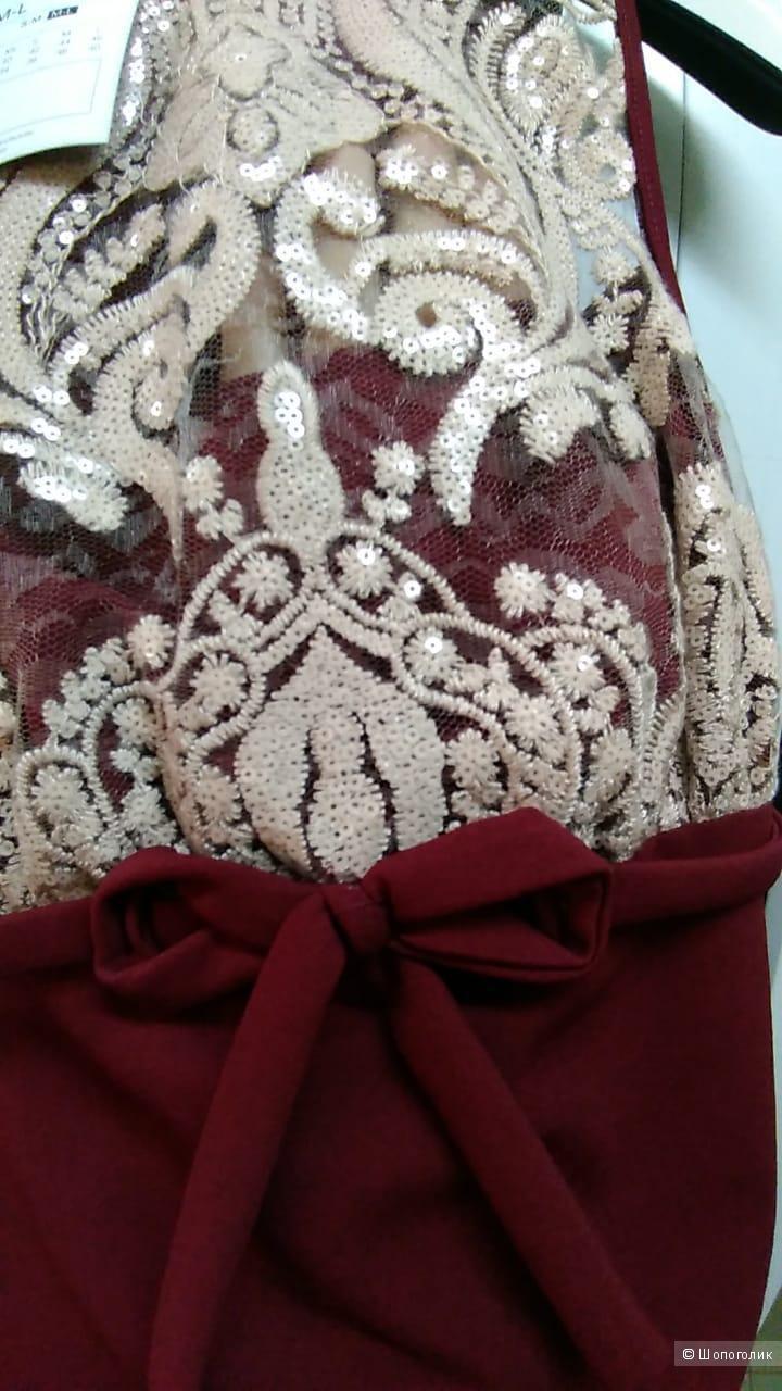 Коктейльное платье бантик . Размеры . 42.44.46