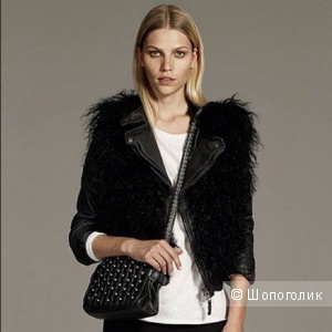 Жилет Lambskin leather Zara размер М