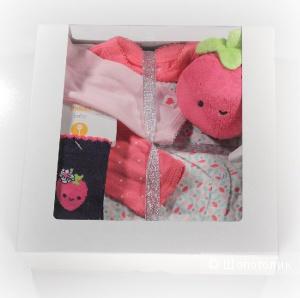 Подарок-набор для новорожденной «Клубничка», размер 0-3 м