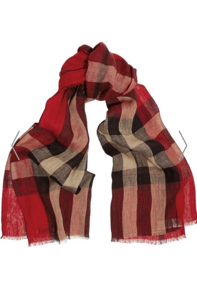 Льняной шарф Burberry