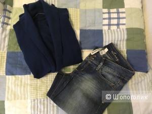Сет джинсы Mango+пуловер Benetton S-M