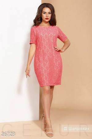 Нежное гипюровое платье . Размеры 48.50.52