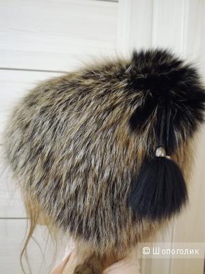 Меховая шапка блюфрост единый размер.