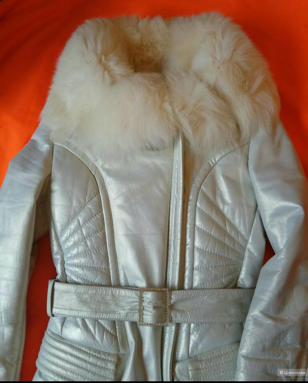 Кожаное теплое пальто Mephisto,M