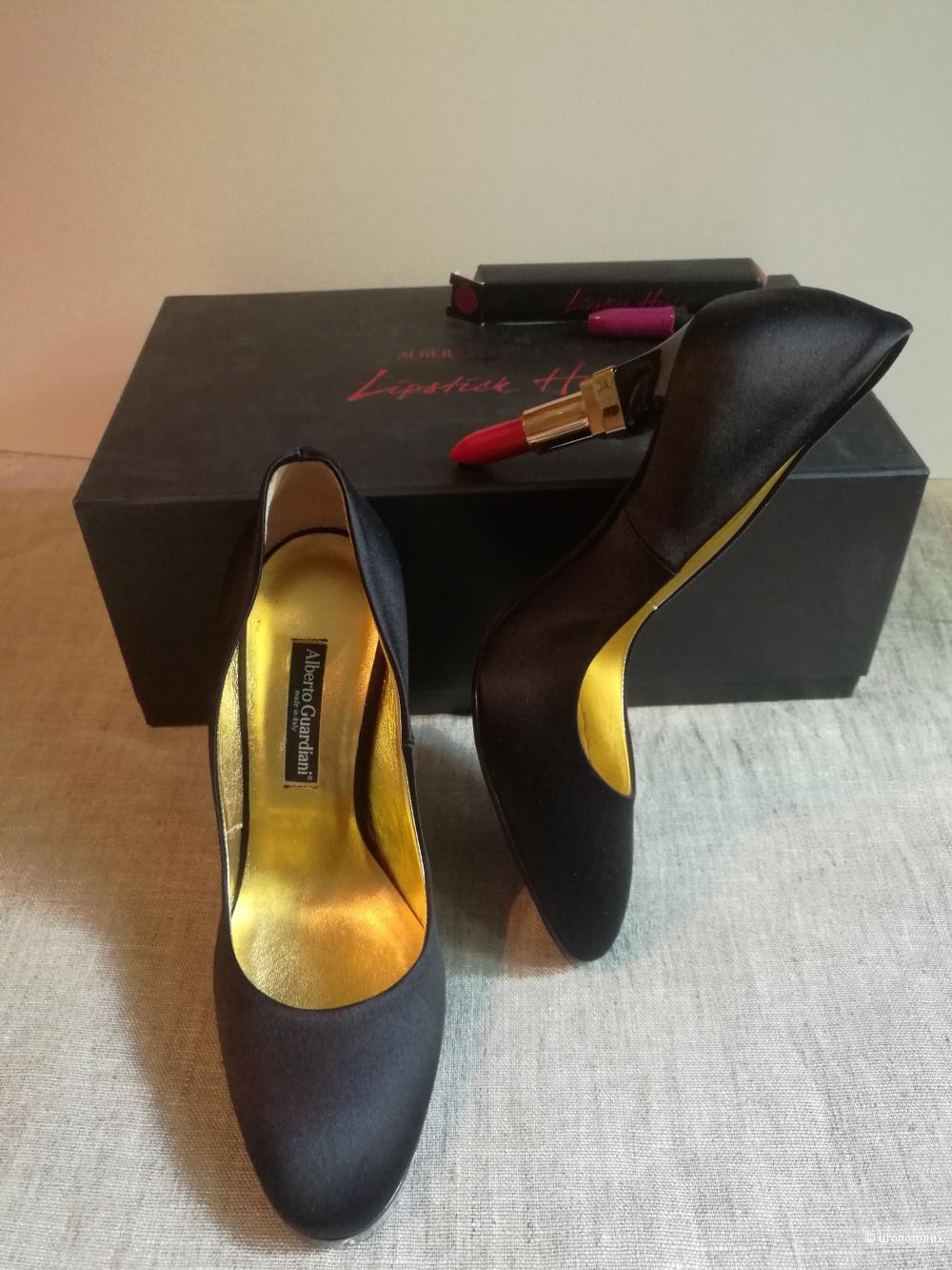 Туфли Alberto Guardiani с каблуками Lipstick Heel, на р.35-36