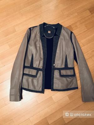 Пиджак кожаный Trussardi 44-46 ( IT44)