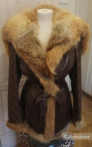 Кожаная куртка с лисой, Falapu,  M,L,Xl