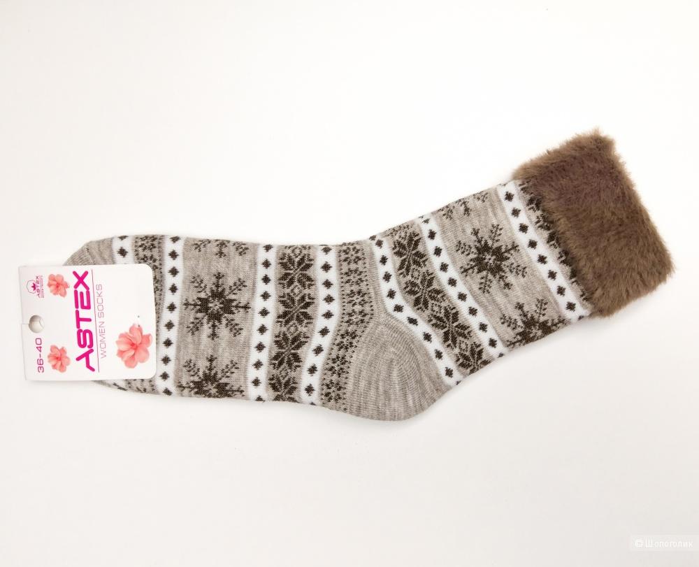 """Носки женские, """"Снежинки"""", 36-40 размеры."""