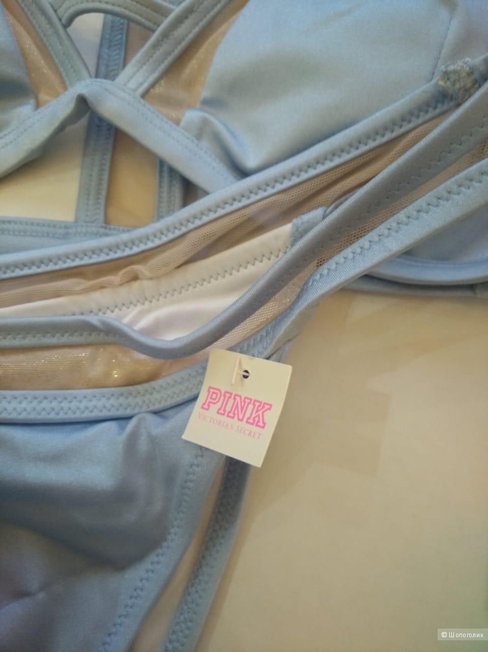 Купальник Victorias Secret PINK верх L низ M маломерит цвет голубой