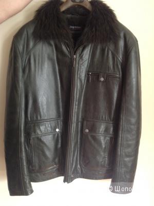 Зимняя кожаная куртка Jorg Weber, размер 54-56