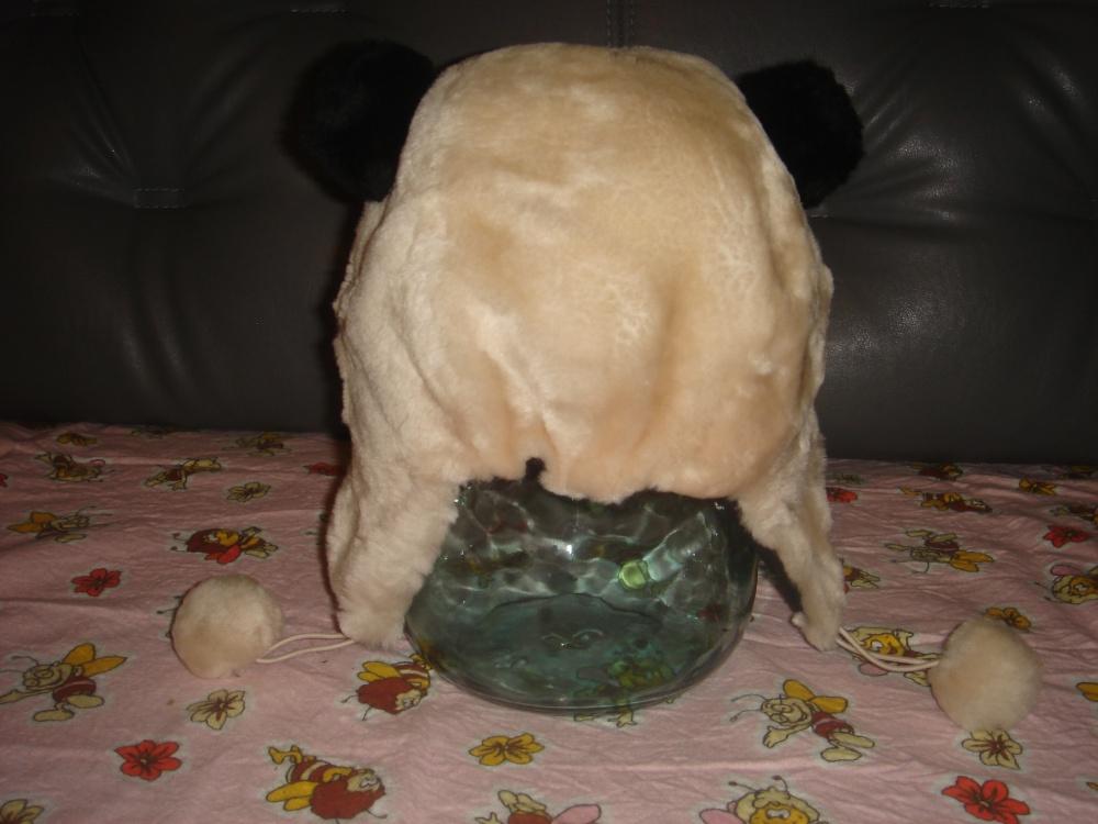 Зимняя шапка, мех мутона, 2-4 года