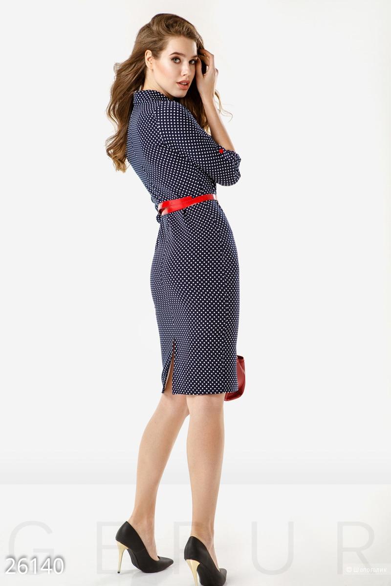 Офисное платье в горошек . Размеры M. L. XL.2XL.3XL.4XL