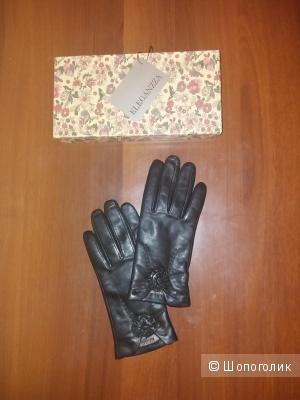 Кожаные перчатки Eleganzza  р.7