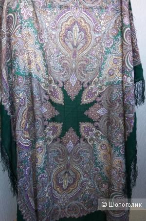 Павлопосадский платок Февраль 715-9, размер 125*125 см.