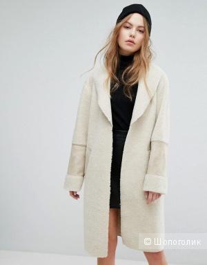 Меховое пальто New Look, UK12