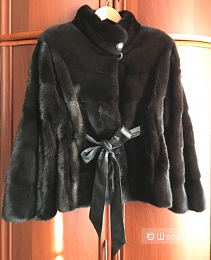 Норковая шуба Fellicci на поясе, размер 42/46