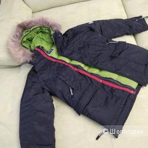 Зимняя куртка для мальчика, фирма GULLIVER, рост 140.