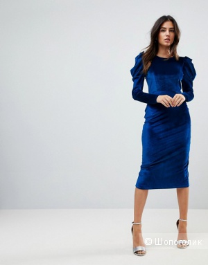 Бархатное платье ASOS UK6