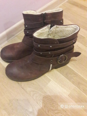 Кожаные ботинки на меху Marc 41 размера