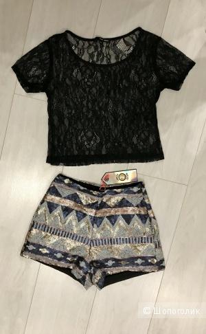 Сет футболка и шорты Tally Veijl, размер 32, S