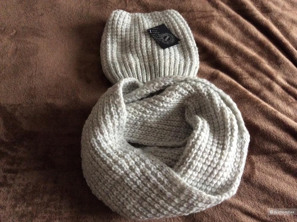Шапка и шарф хомут Кама ,размер М