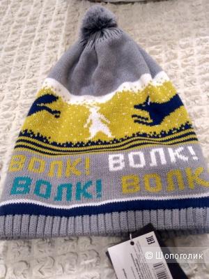 Дизайнерская шапка Волки onesize