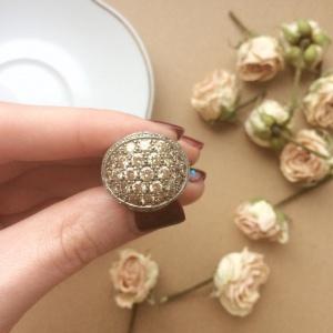 Серебряное кольцо с цирконами и фианитами (18-18,5)