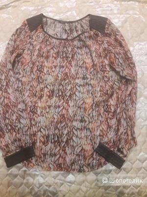 Блузка с кожей Espresso 46-48 размера