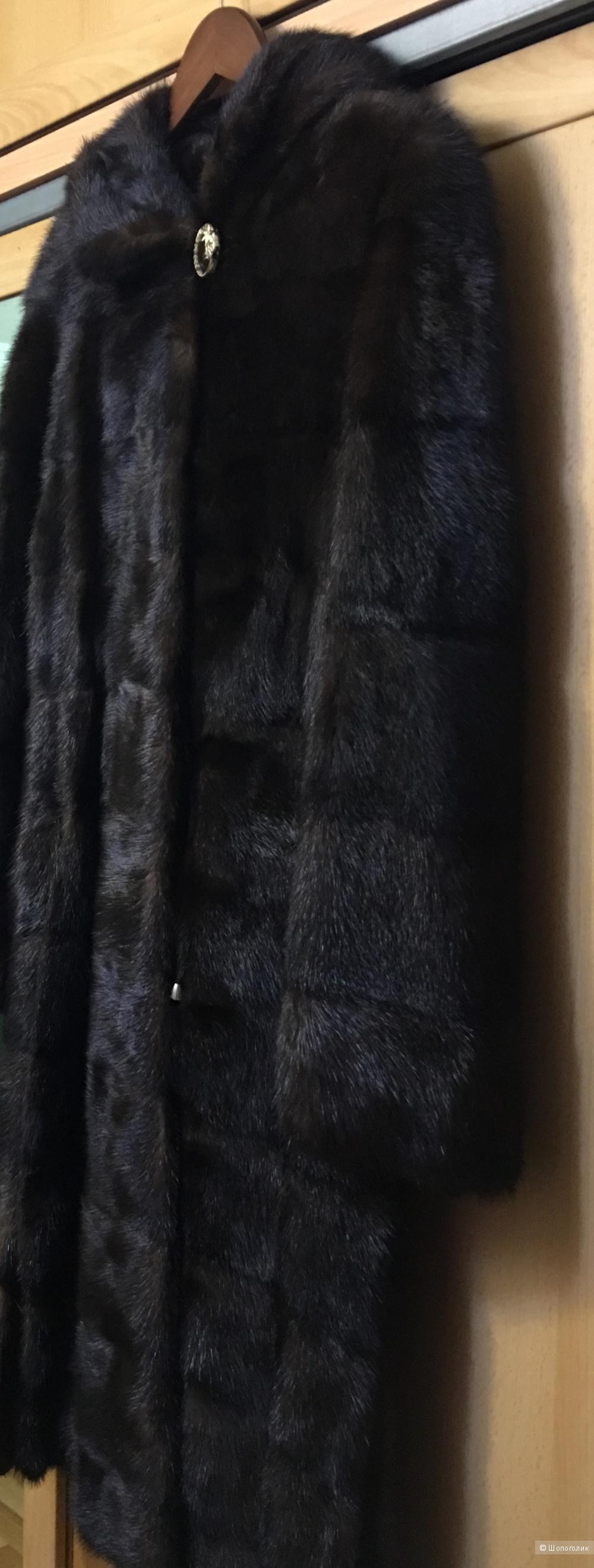 "Норковая шубка, ""Snowflake Flourish fur"", размер 44-46"