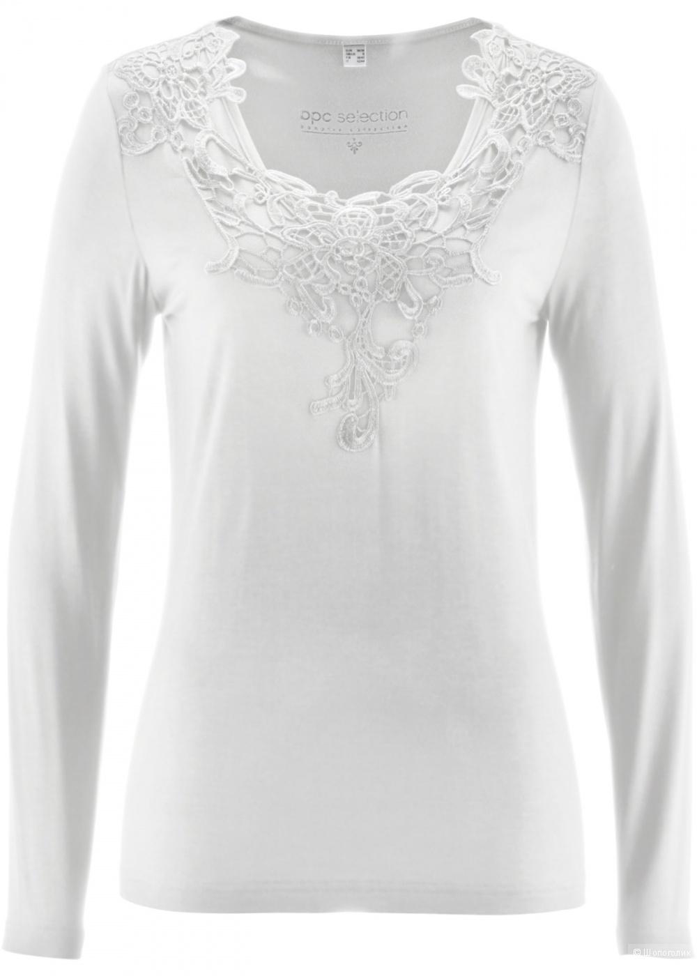 "Блузка белого цвета ""Bonprix"", р.42-46"