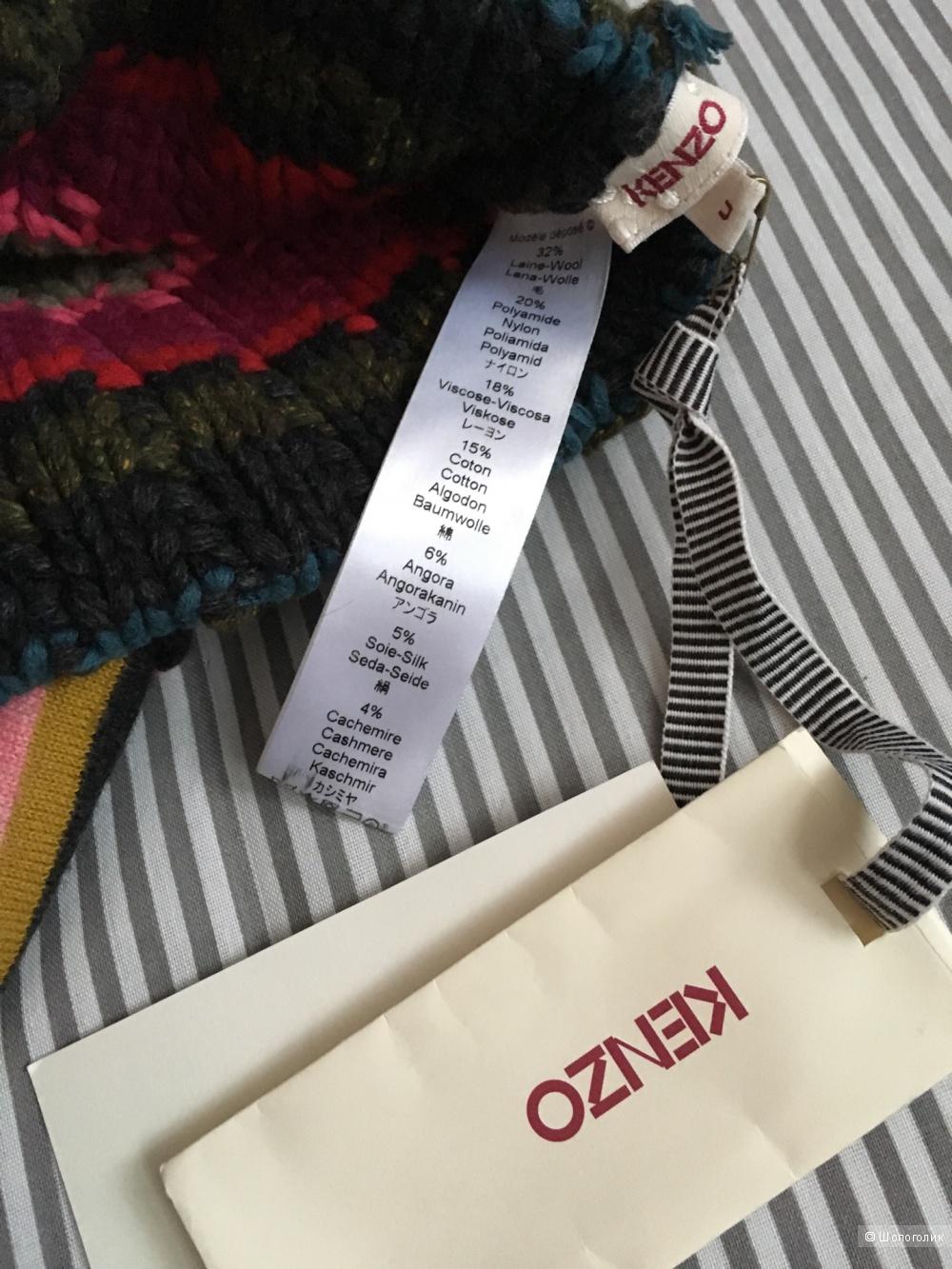 Шапка + шарф,  Kenzo, размер универсальный