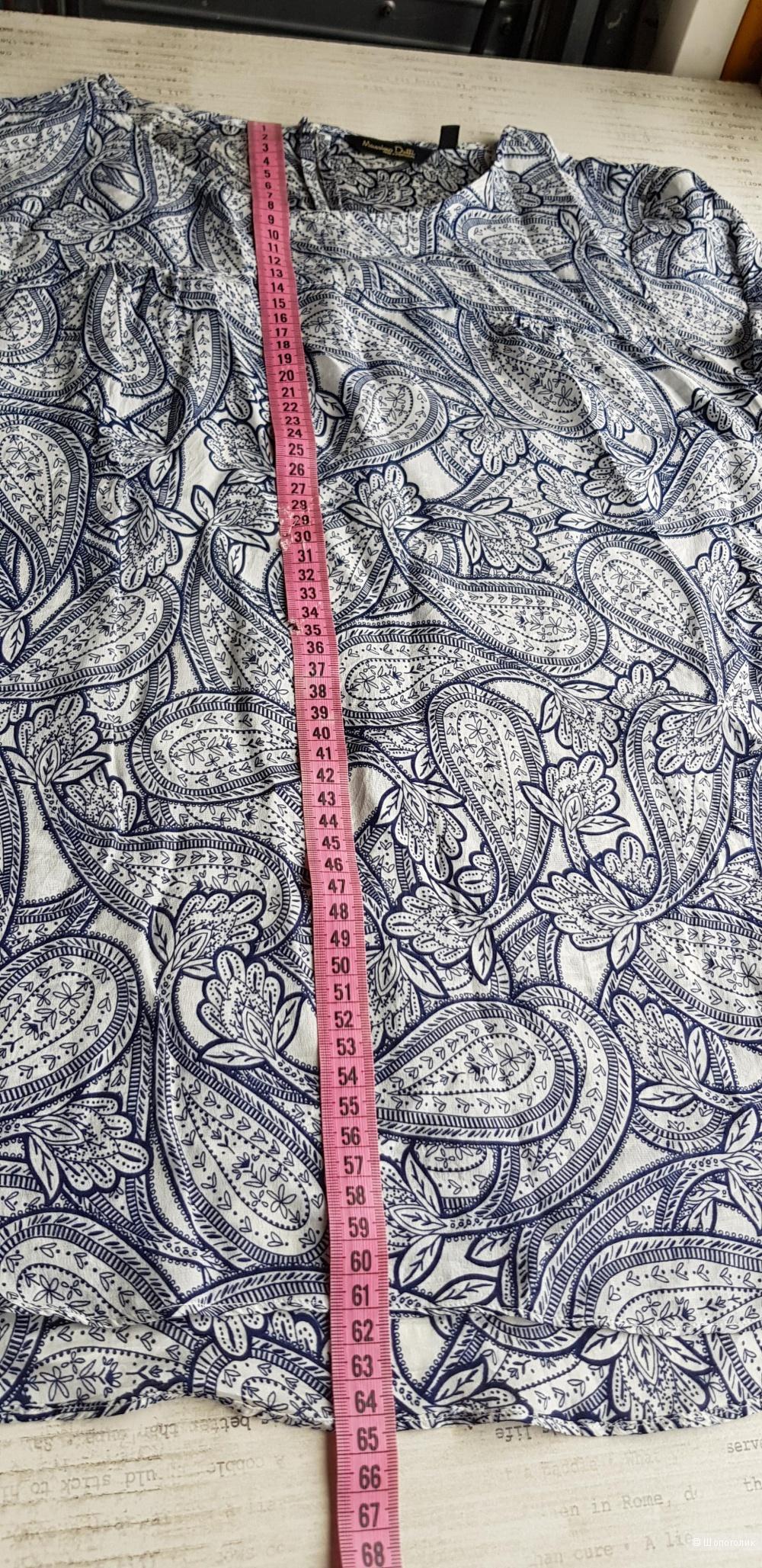Шёлковая блузка Massimo Dutti р.40