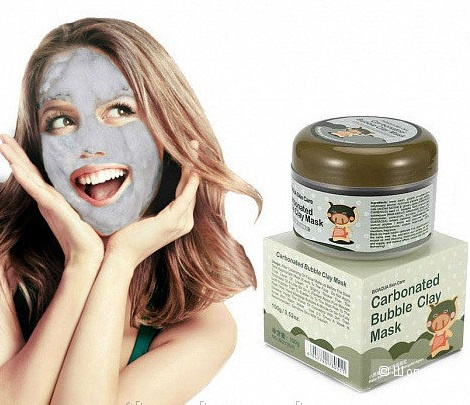 Маска для лица Bioaqua Carbonated Bubble Clay Mask, 100мл