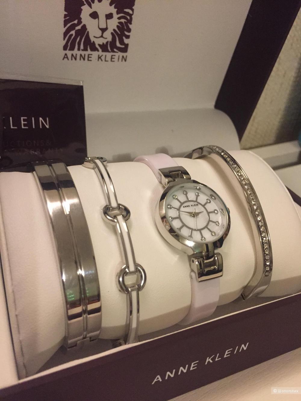 Набор браслетов и часы ANNA KLEIN