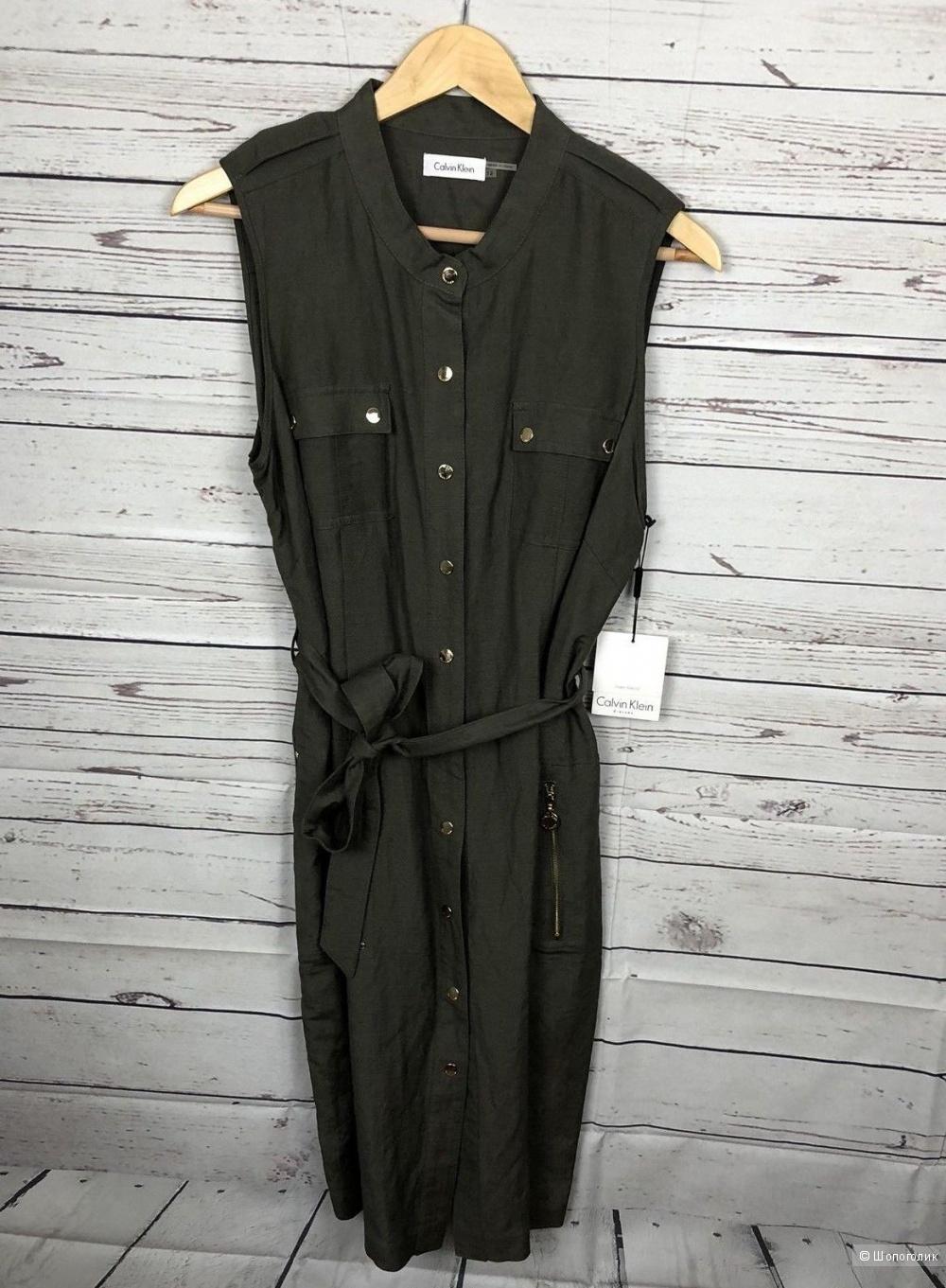Льняное платье Calvin Klein 46 размер