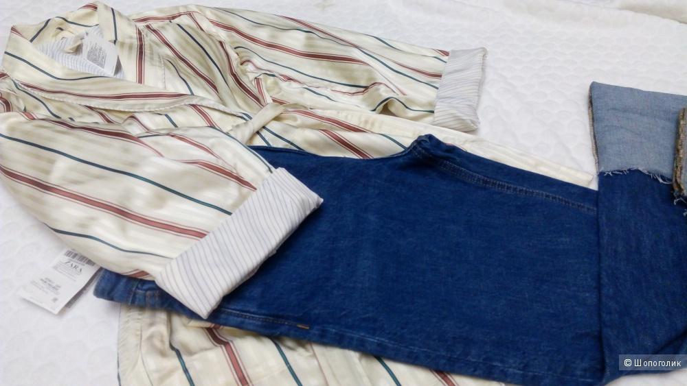 Жакет в пижамном стиле TREND H&M, размер 44 рус