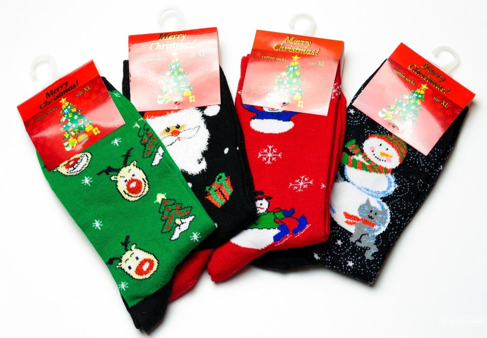 """Носки женские, """"Новый год"""", 36-40 размеры."""