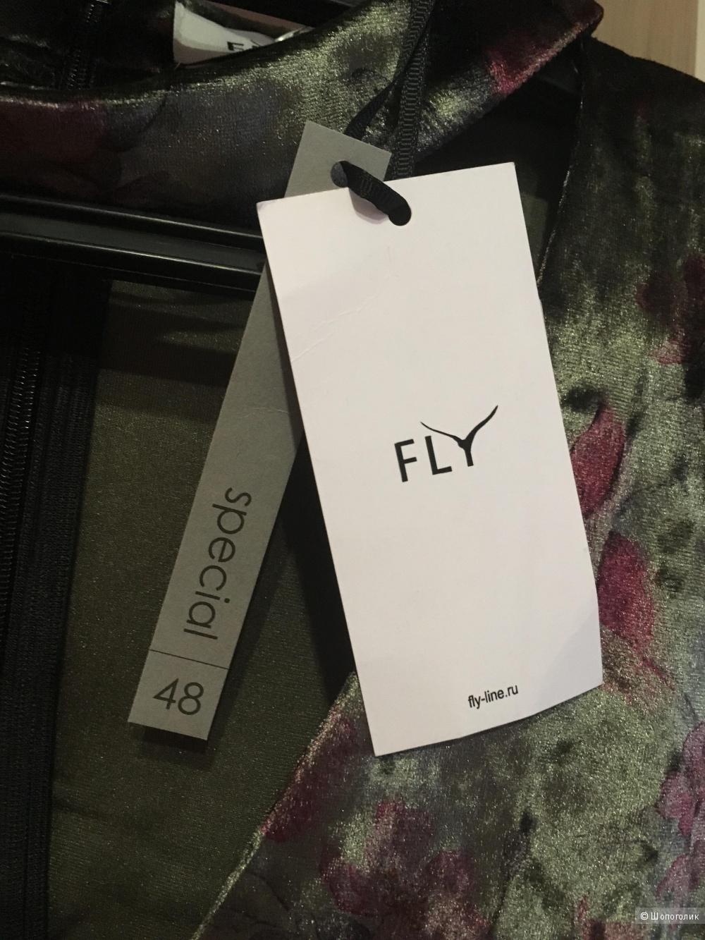 Бархатное платье Fly, 46-48 размер
