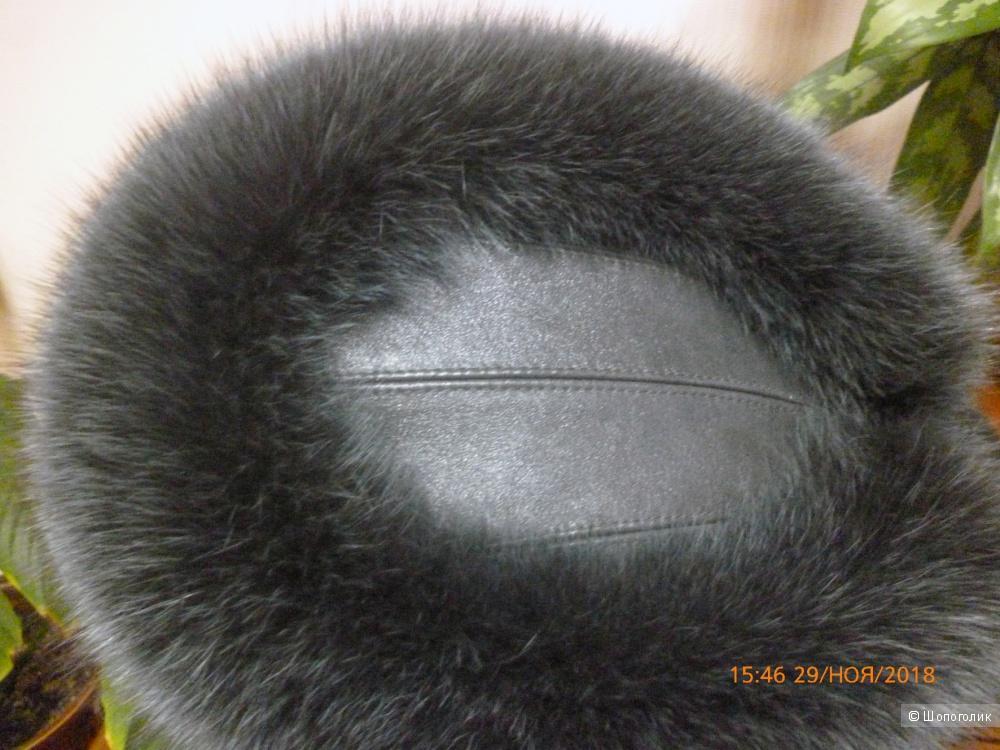 Зимняя меховая шапка Berto Lucci, р-р 57-58см.