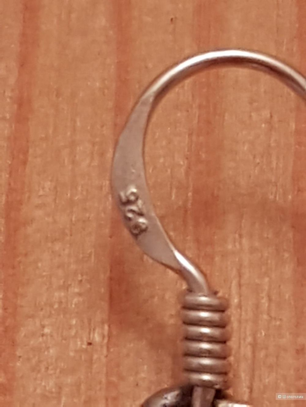 Серьги серебряные с иранской бирюзой
