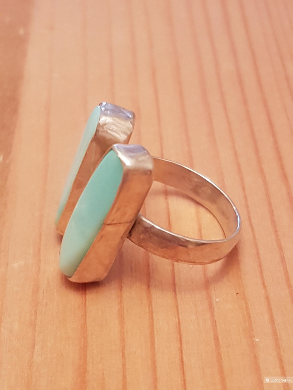 Кольцо с перуанским опалом.