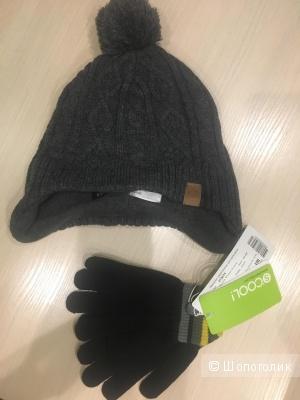 Шапка H&M и перчатки S'Cool,5-8 лет